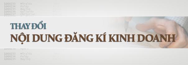 Dịch vụ thay đổi nội dung giấy phép kinh doanh Biên Hòa