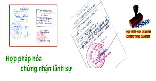 Quy định thể lệ hợp pháp hóa giấy tờ, tài liệu